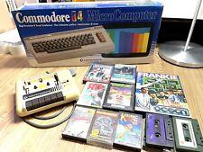 COMMODORE 64 Microcomputer retro console (boxed with games)
