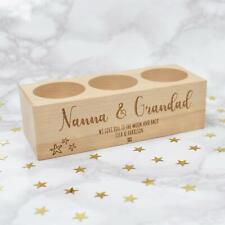 Personalised Tea Light Candle Holder For Nanna, Grandma Grandad Christmas