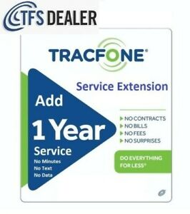 TracFone Service Extension 1 Year/365 Days For All Phones. 2537 Sold !! 🔥🔥🔥🔥