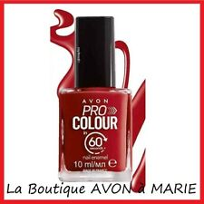 LIGHTENING RED Rouge Lumineux VERNIS à Ongles SECHAGE 60sec AVON