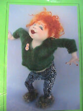 "DANCING DORIS~Jill Maas 2007 18"" (42cm) whimsical & fun cloth art doll pattern"