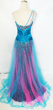 PINK PROM Blue Purple $448 Prom Pageant Ball Gown 2