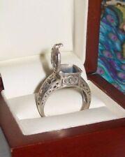 Vintage Sterling Silver Locket Ring ~ Celtic 925 Poison Ring ~ sz 9