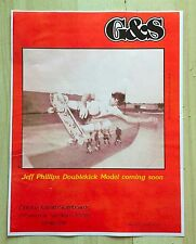 SIMS JEFF PHILLIPS G&S SKATEBOARD AD ART MINI POSTER BBC GULLWING TRUCKS TEXAS