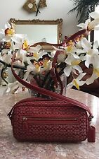 Coach 6341 Mini Signature Red Canvas Cross-body Shoulder Camera Bag MSRP $148