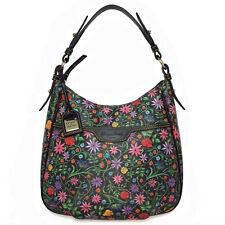DOONEY & BOURKE East West Collins Hobo Black Floral Shoulder Bag HandBag