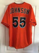 Josh Johnson Signed Miami Marlins Majestic Jersey Size XL W/ MLB Cert Sticker
