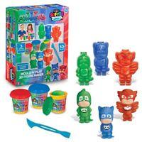 PJ Masks - MOULD N' PLAY 3D FIGURE MAKER - 3 Dough Colours - NEW