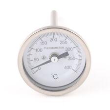 Thermometer 400 °C Oven Door Pizza Bread BBQ Grill Wood Smoker Gauge Round