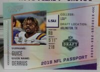 2018 PRESTIGE NFL PASSPORT INSERT ROOKIE CARD OF DERRIUS GUICE NO. PP-DC