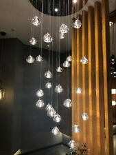 LED Triangular Crystal Chandelier Living Room villa Staircase Pendant Lighting