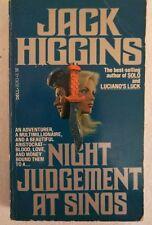 Jack Higgins. Night Judgment at Sinos. Adventure. Murder. Vintage. Pb