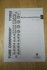 Owner /Operation Manual for the Behringer T1952 Tube Composer~GERMAN TEXT!