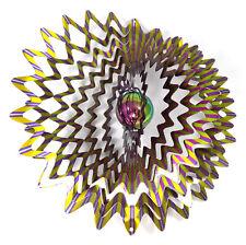 WorldaWhirl Whirligig 3D Wind Spinner Gazing Ball Star Patio Twister Stainless