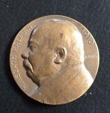 Antica medaglia bronzo Kalman Mikszath 1910-muranyi