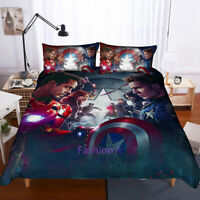 The Avengers Single/Double/Queen/King Size Bed Doona/Duvet/Quilt Cover Set