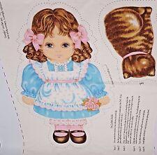 Doll Cut Sew Panel Jennifer Catnip Cat Victorian Beautiful Cranston Stuffed