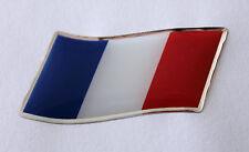 45mm di sventolando la bandiera della Francia Adesivo / Decalcomania-con un' alta lucentezza a cupola GEL FINISH
