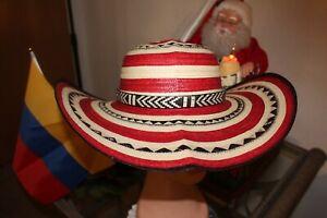 COLOMBIAN HAT~~FINO SOMBRERO VUELTIAO~~ROJO COLORIDO   S OR M