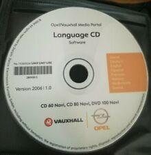 OPEL Sprach / Language CD for CD 60 CD 80 Navi DVD 100 Navi / Version 2006 l 1.0