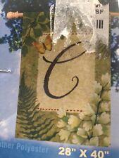 Breeze art Monogram C 28�x40� Premium Standard Flag Nip Beautiful