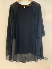 Topshop Black Dress/Top With Floaty Sleeves Size 10