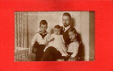 RPPC, Germany Royalty Prinz Oskar von Preussen mit seinen Kindern