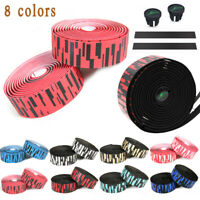 Black x Red TUSK CB-0108UBHC EVA PU Road Bike Handlebar Bar Tape Ribbon