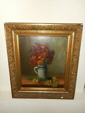 Very old oil painting - 1876, { Beautiful still life with flowers, is signed }.