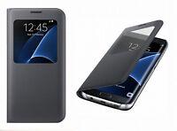 Original Samsung Galaxy S7 Edge S-VIEW à Rabat Type Portefeuille Étui COQUE