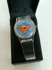 SUPERMAN - New DC Comics Kids Superman Insignia Clear Rubber Watch Collectible