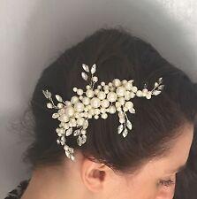 Ivory Pearl & Silver Bridal Hair Comb Bridesmaid Wedding Accessories