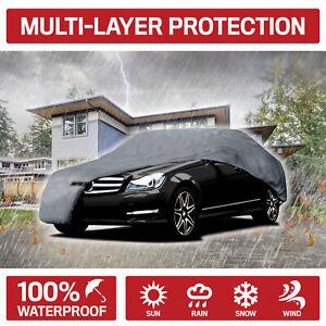 2-Pack Motor Trend Waterproof Car Cover Indoor Outdoor Sun Dirt Dustproof