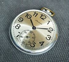 CLASSIC 1970s MOLNIJA 3602 18 JEWELS POCKET WATCH USSR