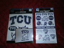 LAPTOP STICKERS AND SPIRIT STICKERS TCU TEXAS CHRISTIAN UNIVERSITY HORNED FROGS