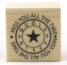 Miss You All The Time Wood Mounted Rubber Stamp Hero Arts NEW card greeting note