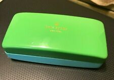 Kate Spade ~ Eye Glasses Case ~Turquoise & Green ~ Hard Shell