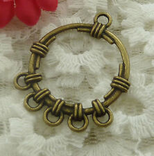 free ship 36 pieces bronze plated earring connector 34x27mm #2190
