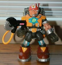 Fisher-Price Rescue Heroes Voice Team JACK HAMMER Figure w/ Video Backpack [A]