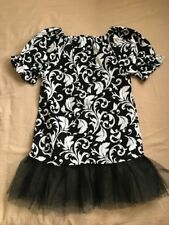 New hand made toddler girl black white & lace peasant dress size 4T
