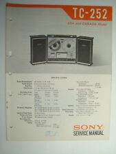 ORIGINAL Sony TC-252 Stereophonic Tape Recorder Service Manual