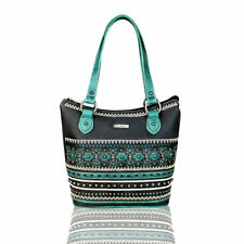 Montana West Turquoise & Black Aztec Collection Tote