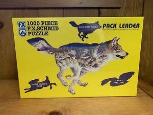 F. X. Schmid - Pack Leader wolf shaped 1000 piece jigsaw puzzle - Sealed - NIB