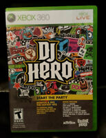 "DJ HERO - 2009 Xbox 360 Microsoft/Activision ""Start The Party"" FREE Shipping!"