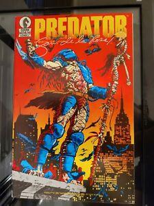 Predator #1 2nd Print 1st Appearance Dark Horse 1989 Signed Sam De La Rosa!