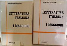 LETTERATURA ITALIANA I MAGGIORI Marzorati Orientamenti Culturali Critica Storia