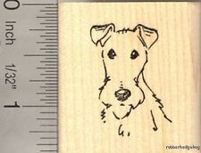 Fox Terrier Face Rubber Stamp D13011 WM