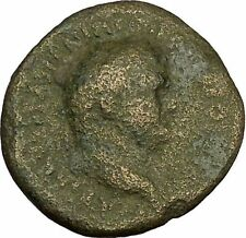 VESPASIAN 75AD Ancient Big RARE Roman Coin Clasped hands Winged Caduceus i40264
