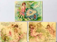 Vintage inspired fairies Valentine small note cards tags ATC altered art set  6