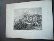 GRAVURE 1880  BATAILLE DU SOMO-SIERRA 30 NOVEMBRE 1808